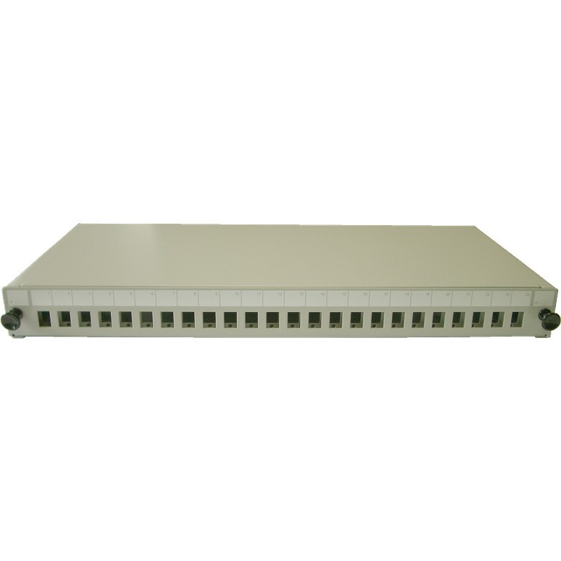 19 inch Sliding Patch Panel for up to 24 Adaptors LC duplex / SC simplex