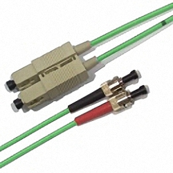 FO Patch Cable OM3 Multi-mode 50/125µm, Duplex, SC/PC-ST/PC