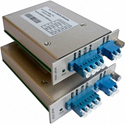 CWDM Mux/Demux Slide-in Card with 4 or 8 wavelengths