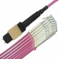 MTP/MPO Fanout-Kabel OM4 12-Core MTP(Male) auf 12x Simplex LC/PC, Premium Elite