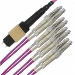 MTP/MPO Fanout-Kabel OM4 8-Core MTP(Male) auf 4x Duplex LC/PC, Premium Elite