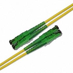 Fiber Optic Patch Cable Low-IL Single-mode, Duplex, E2000/APC-E2000/APC