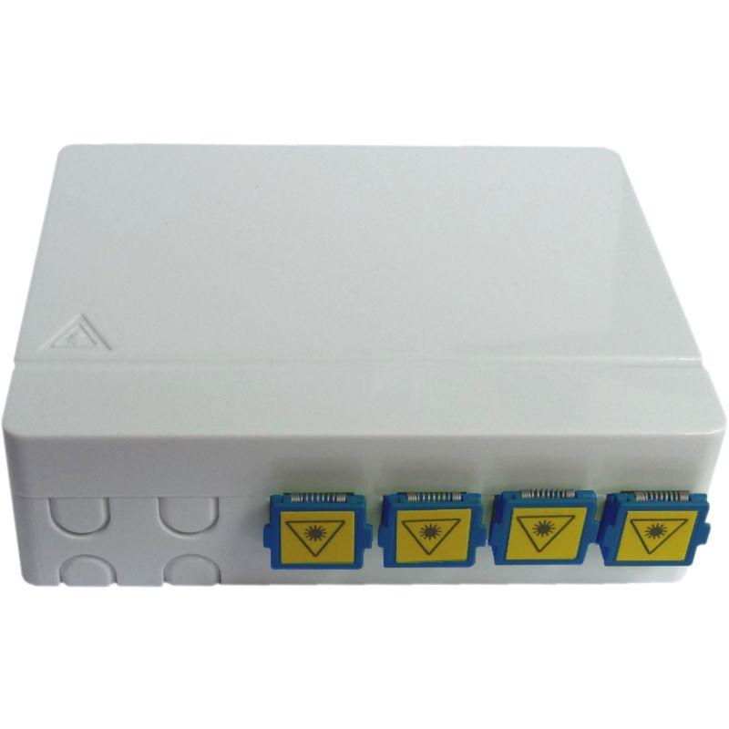 FTTH Wand-Box mit SC/PC Shutter-Adaptern