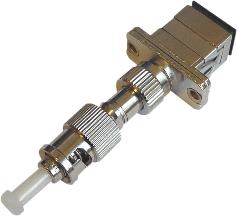 Fiber Adaptor ST/PC male - SC/PC female, Simplex, Single-mode