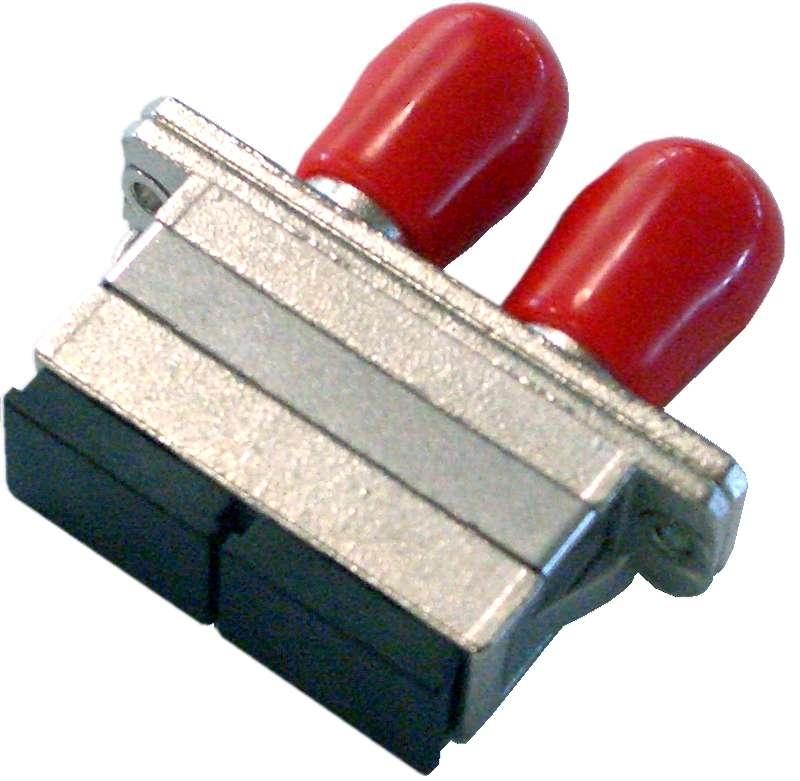 Fiber Adaptor SC/PC - ST/PC, Duplex, Single-mode/Multi-mode