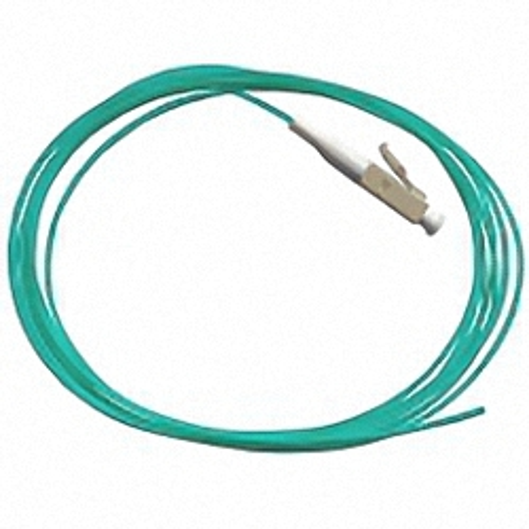 Fiber Pigtail, OM3 50/125µm, LC/PC, aqua 2m