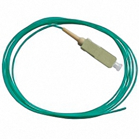 Fiber Pigtail, OM3 50/125µm, SC/PC, aqua 2m