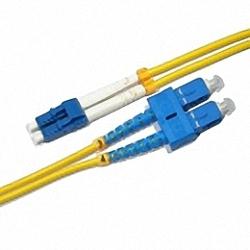 Fiber Optic Patch Cable Single-mode, Duplex, LC/PC-SC/PC