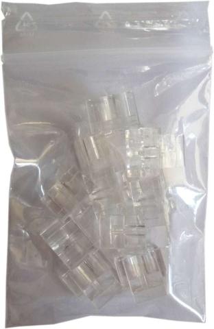 Duplex-Clip LC Stecker Singlemode/Multimode, 10 Stück