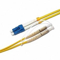 Fiber Optic Patch Cable Single-mode, Duplex, LC/PC-DIN/PC