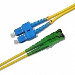 Fiber Optic Patch Cable Low-IL Single-mode, Duplex, SC/PC-E2000/APC