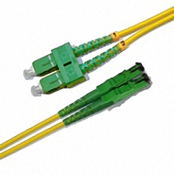 Fiber Optic Patch Low-IL Cable Single-mode, Duplex, SC/APC-E2000/APC