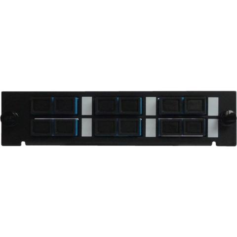 Adaptor Plate LGX-Style with 6 adaptors SC/PC, Duplex, Singlemode
