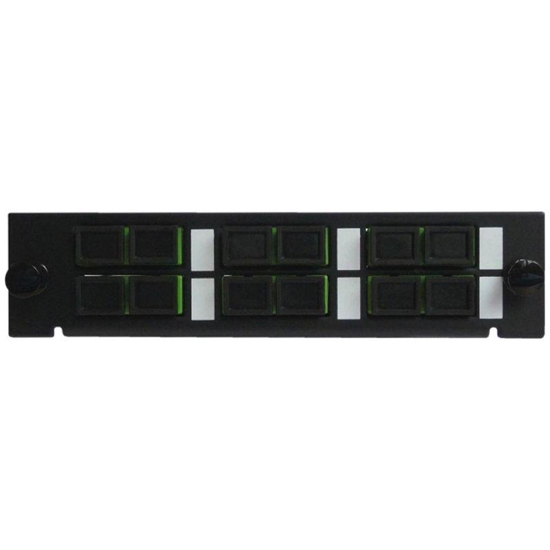 Adapterplatte LGX-Style mit 6 Adaptern SC/APC, Duplex, Singlemode