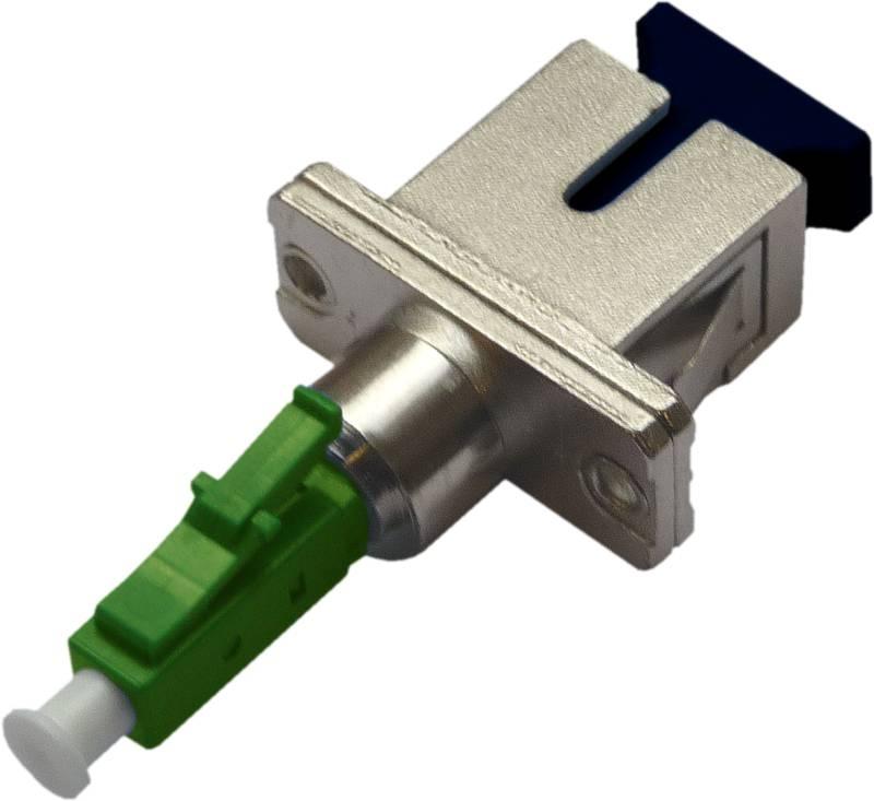 Fiber Adaptor LCA/PC male - SC/PC female, Simplex, Single-mode