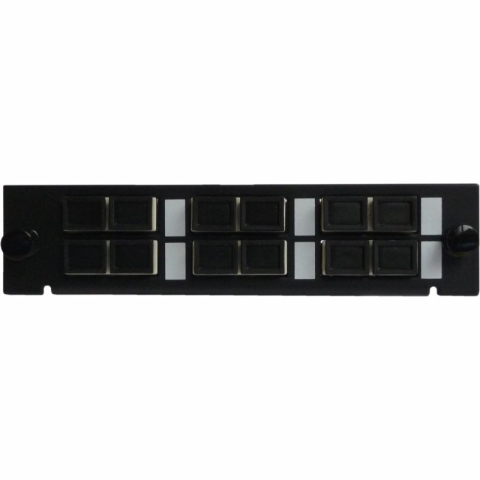 Adapterplatte LGX-Style mit 6 Adaptern SC/PC, Duplex, Multimode OM2