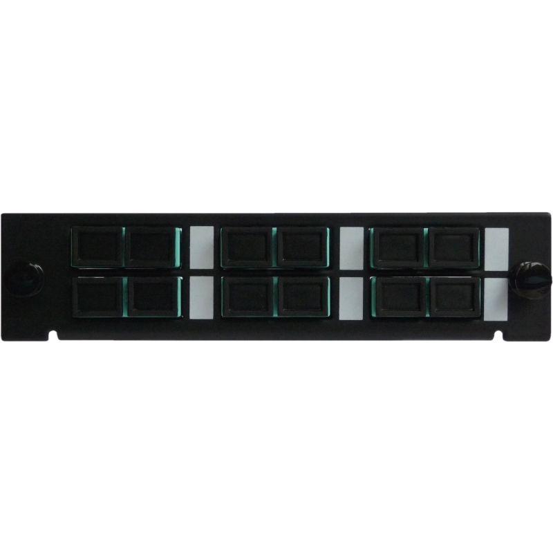 Adapterplatte LGX-Style mit 6 Adaptern SC/PC, Duplex, Multimode OM3