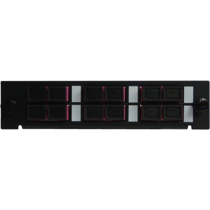 Adapterplatte LGX-Style mit 6 Adaptern SC/PC, Duplex, Multimode OM4