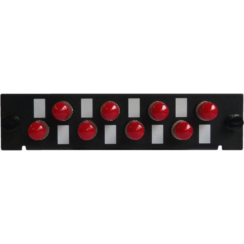 Adapterplatte LGX-Style mit 8 Adaptern ST/PC, Simplex, Singlemode/Multimode