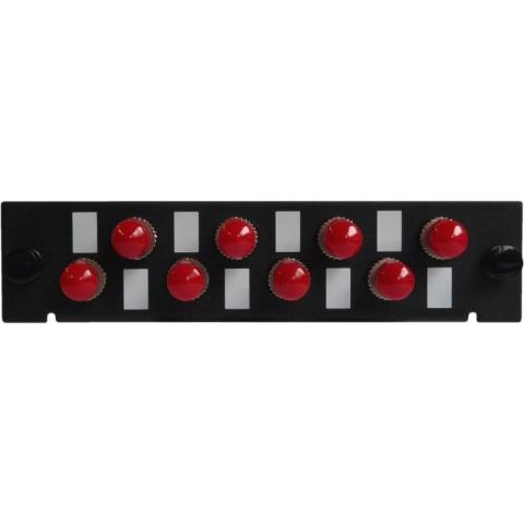 Adaptor Plate LGX-Style with 8 adaptors ST/PC, Simplex, Singlemode/Multimode
