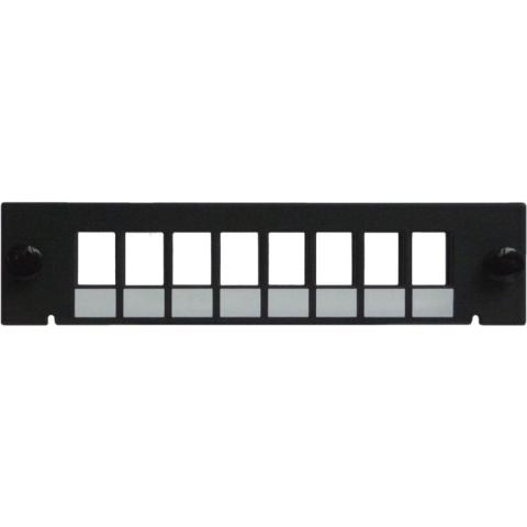 Adapterplatte LGX-Style für 8 Adapter LC Duplex / SC Simplex / E2000 Simplex / MTP, unbestückt
