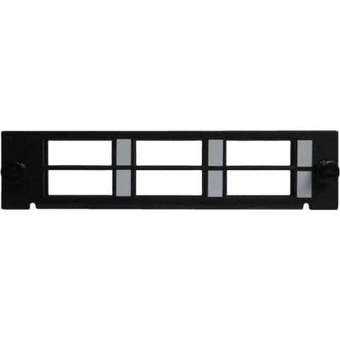 Adapterplatte LGX-Style für 6 Adapter SC Duplex / LC Quad, unbestückt