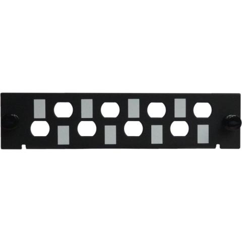 Adaptor Plate LGX-Style for 8 adaptors ST Simplex / FC Simplex, unloaded