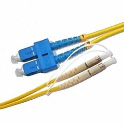 Fiber Optic Patch Cable Single-mode, Duplex, SC/PC-DIN/PC