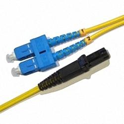 Fiber Optic Patch Cable Single-mode, Duplex, SC/PC-MTRJ/PC