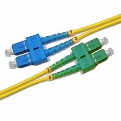 Fiber Optic Patch Cable Single-mode, Duplex, SC/PC-SC/APC