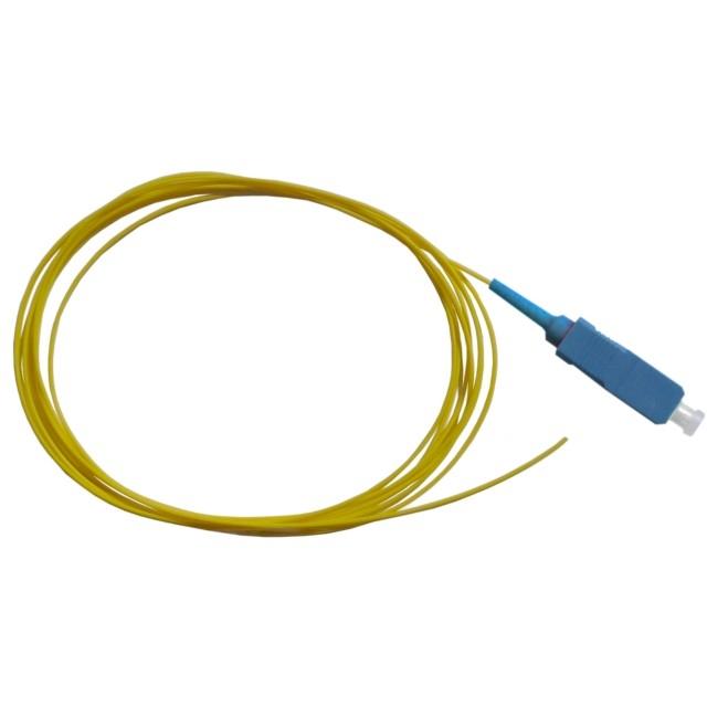 LWL Pigtail, OS2 9/125µm, SC/PC, gelb 1m