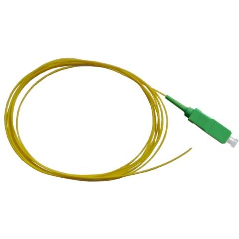 LWL Pigtail, OS2 9/125µm, SC/APC, gelb 1m