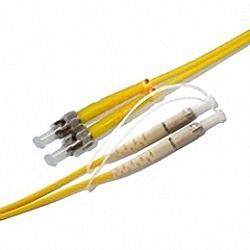 Fiber Optic Patch Cable Single-mode, Duplex, ST/PC-DIN/PC
