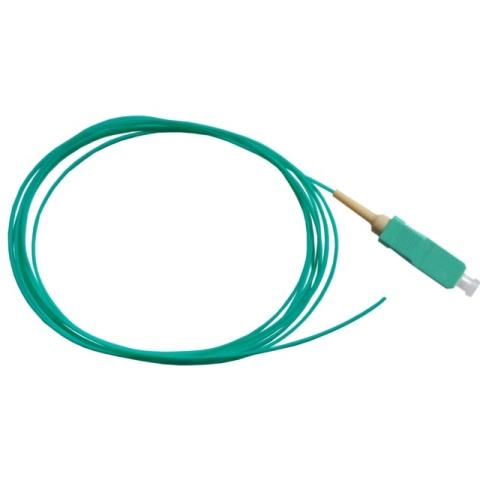 Fiber Pigtail, OM3 50/125µm, SC/PC, aqua 1m