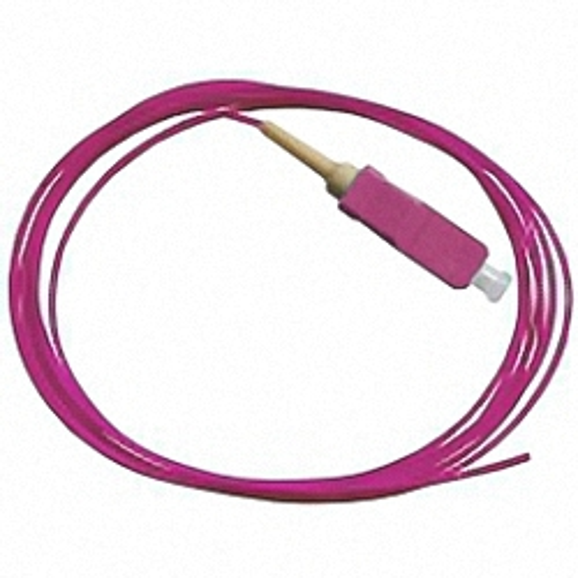 Fiber Pigtail, OM4 50/125µm, SC/PC, purple 1m