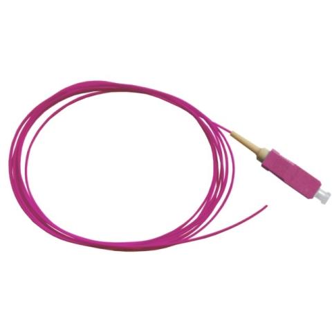 LWL Pigtail, OM4 50/125µm, SC/PC, erika 1m