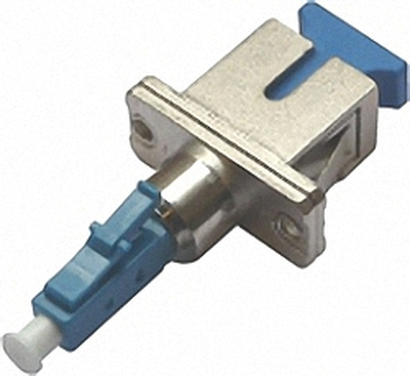Fiber Adaptor LC/PC male - SC/PC female, Simplex, Single-mode