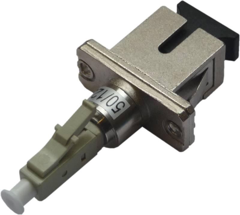 Fiber Adaptor LC/PC male - SC/PC female, Simplex, Multi-mode