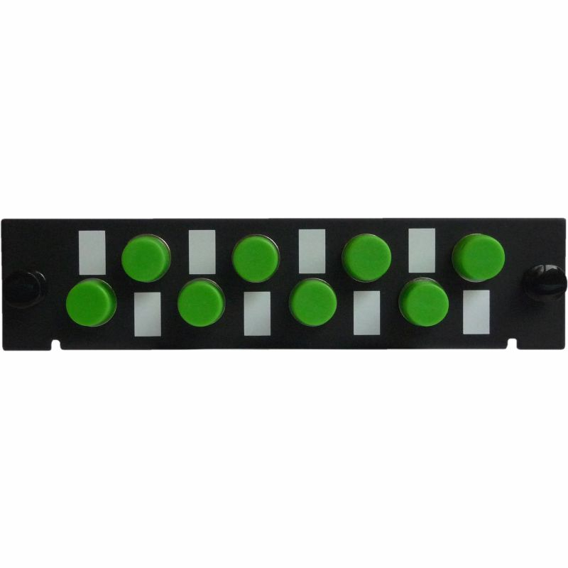 Adapterplatte LGX-Style mit 8 Adaptern FC/APC, Simplex, Singlemode/Multimode