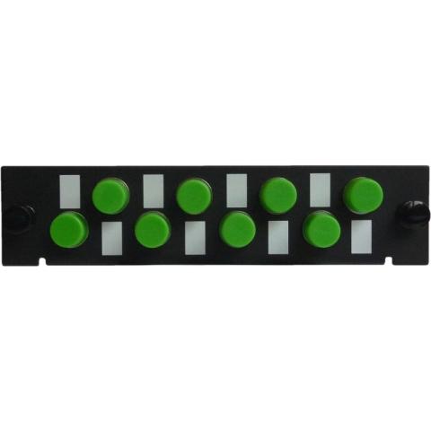 Adaptor Plate LGX-Style with 8 adaptors ST/APC, Simplex, Singlemode/Multimode
