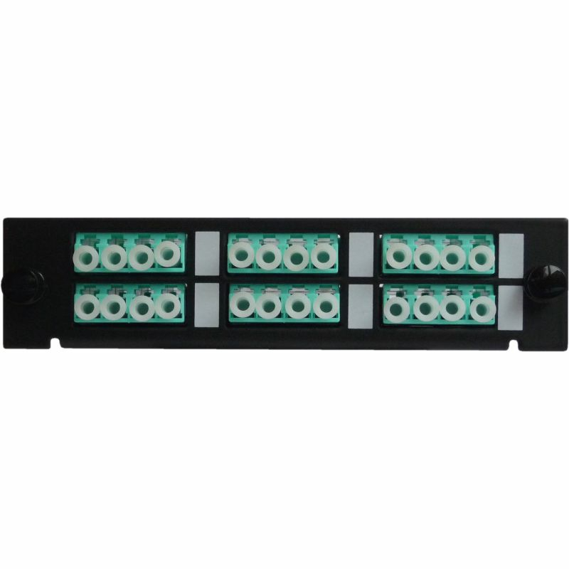 Adaptor Plate LGX-Style with 6 adaptors LC/PC, Quad, Multimode OM3