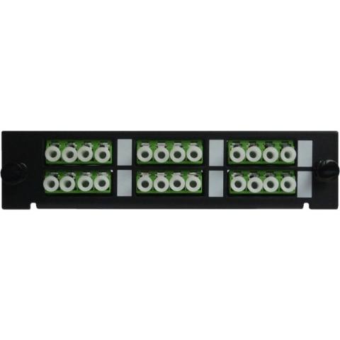 Adaptor Plate LGX-Style with 6 adaptors LC/APC, Quad, Singlemode