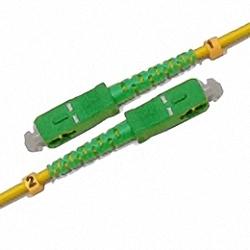 Fiber Optic Patch Cable Single-mode, Simplex, SC/APC-SC/APC