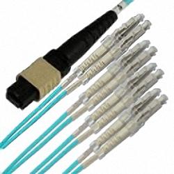 MTP/MPO Fanout-Kabel OM3 8-Core MTP(Female) auf 4x Duplex LC/PC, Premium Elite
