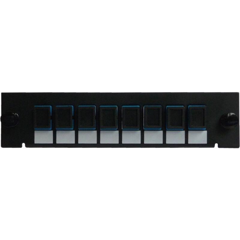 Adaptor Plate LGX-Style with 8 adaptors SC/PC, Simplex, Singlemode
