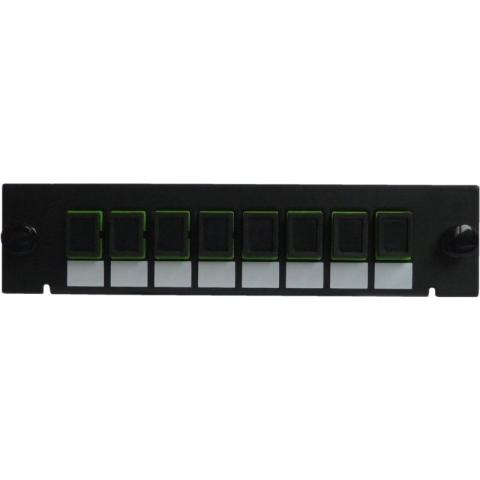 Adaptor Plate LGX-Style with 8 adaptors SC/APC, Simplex, Singlemode