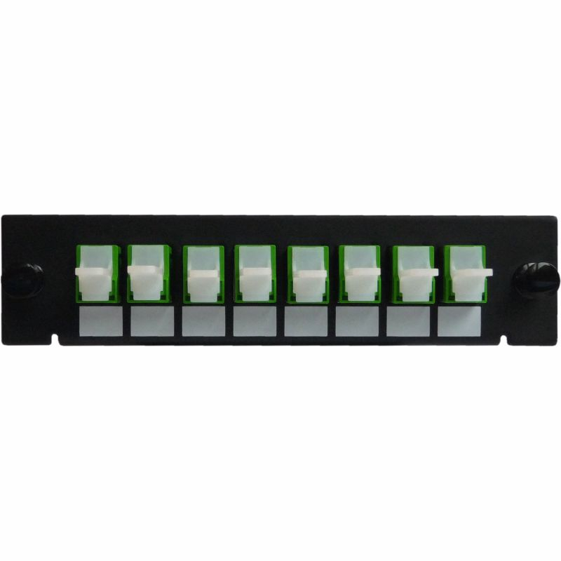 Adaptor Plate LGX-Style with 8 adaptors E2000/APC, Simplex, Singlemode