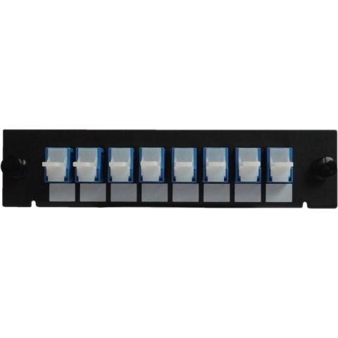 Adaptor Plate LGX-Style with 8 adaptors E2000/PC, Simplex, Singlemode