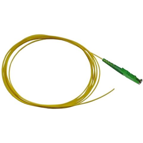 LWL Pigtail, OS2 9/125µm, E2000/APC, gelb 1m