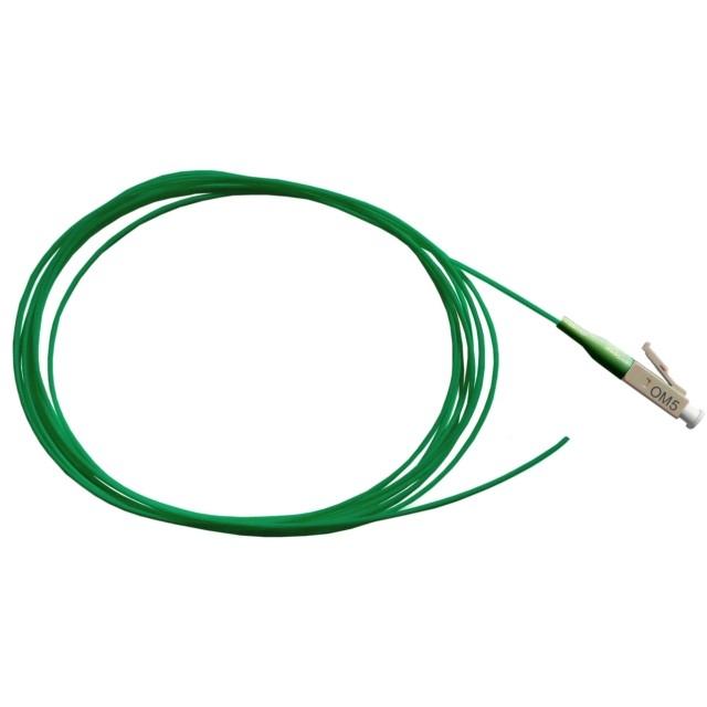 Fiber Pigtail, OM5 50/125µm, LC/PC, lime 2m